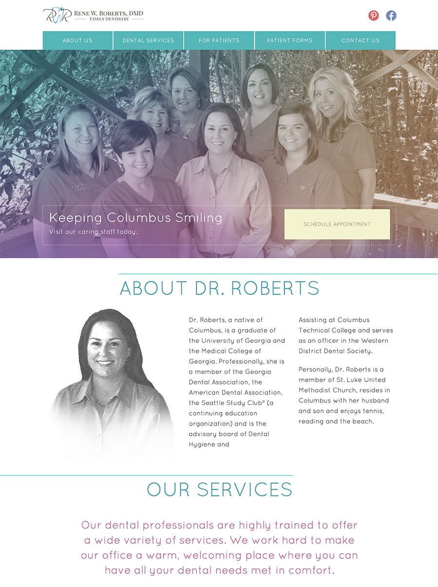 Dr. Rene Roberts Web Design Screenshot