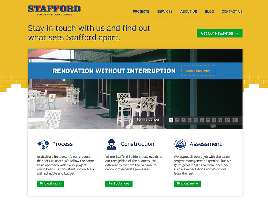 Stafford Builders Web Design Screenshot