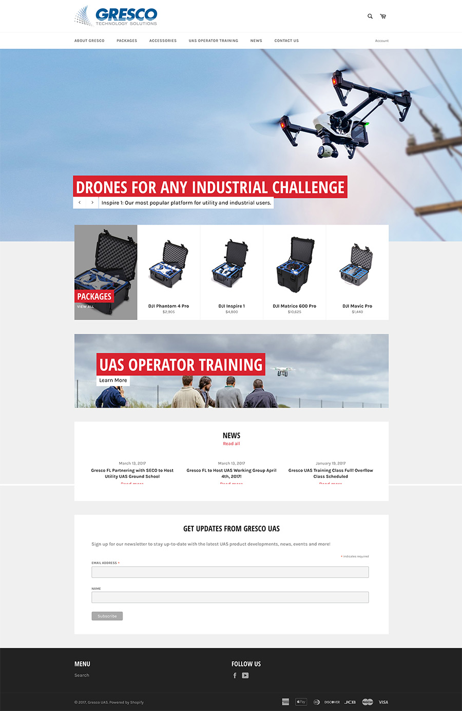 Gresco UAS Website Design Screenshot